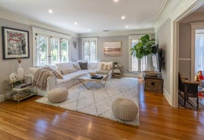 1441 N Ogden Drive Spaulding Square Bungalow Living Room 2