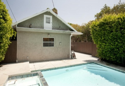 1149 N Poinsettia Pl West Hollywood Lease 90046 Pool Area