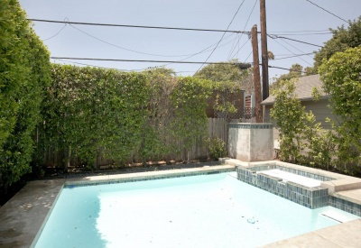 1149 N Poinsettia Pl West Hollywood Lease 90046 Pool and Spa